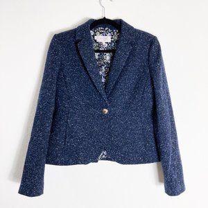 Hobbs London black speckled wool blazer - size 6